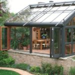 Алюминиевые раздвижные окна зимний сад